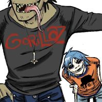 Gorillaz minus two by crackcat911
