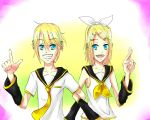 Rin and Len-Yellow by NeonNekoHime