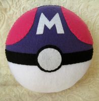 Masterball Pokemon Plush Pillow by P-isfor-Plushes