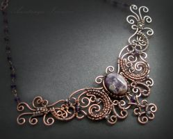 necklace with amethyst by nastya-iv83