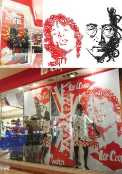 Window display lee cooper by findra
