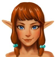 Elf girl portrait by kozmica64