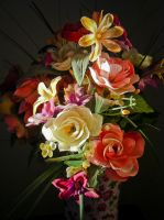 Sunlight On Silk Flowers by Retoucher07030