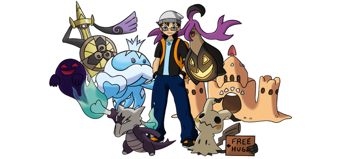 Pokemon Trainer / Team - Sugimori Style - FINAL by SMPGaming