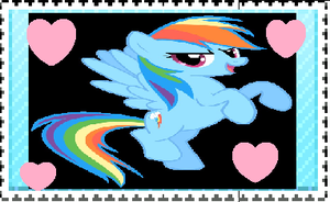 Rainbow dash is best pony stamp by brutallightsparcake