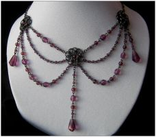More lavender - necklace by monashierogliphica
