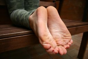 The bare soles of Franzi by foot-portrait