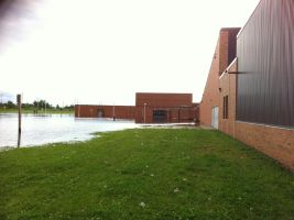 this is my high school... yeah.. kinda drenched. by genmaurie