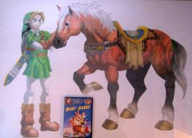 Link and Epona by MichelleWalker