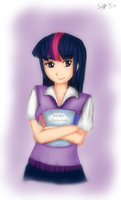 :Coloring: Humanized Twilight Sparkle by sylphan