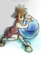 Sora and ball by kimchii