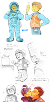 Lego Movie doodles 2 by Barukurii