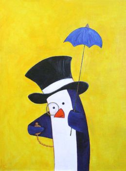 Mr. Penguin is Late by akyra