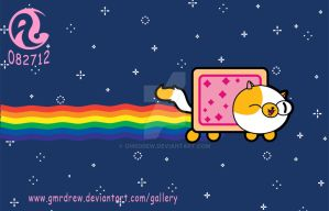 Cake the NYAN Cat by GMrDrew