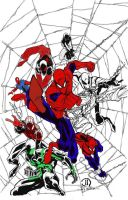 Spider men by andrew-comer