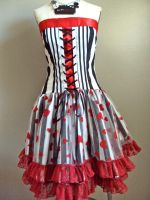 Alice in Wonderland Tim Burton inspired dress by Alien-Phant