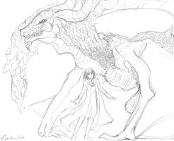 Manah and Angelus scetch by Carolineshox