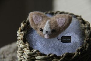 NeedleFelt Corgi (for sale) by FluffyParcel