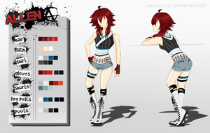 Allen Punky ver. - Alternative Outfit Design by Saido-Chan