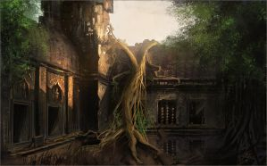 angkor wat by freelancerart