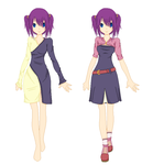 Hailey Redesigned Witch and Casual Outfits by SakuraIsDeidarasGirl