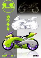 Electric concept motorbike V.2 by zapan29