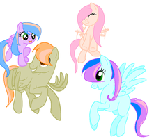MLP Adopts 4 .:1 Left:. by xCherryAdopts