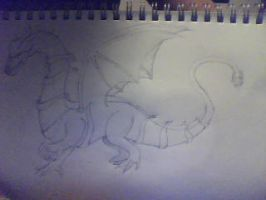 red and yellow cross dragon (unfinished) by Flame-Libra