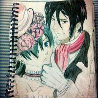 Ciel and Sebastian by CaptainMarshall19