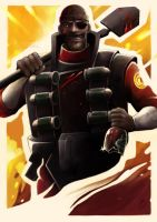Demoman poster by Silverene