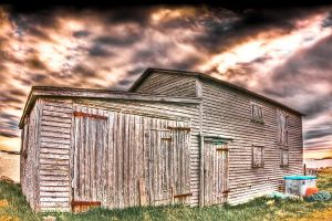 Seaside Barn HDR by Witch-Dr-Tim