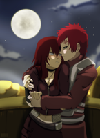 Commission: Kira and Gaara by tenchufreak