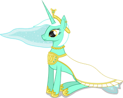 Princess Lyra and her Gala Dress by negasun