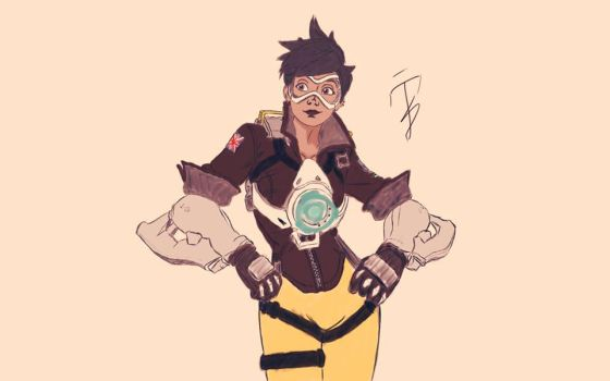 Overwatch - Tracer(Full Color) by Polarnylenin