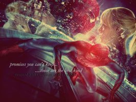 SPIDERMAN - Gwen and Peter - Wallpaper 1 by DrainedWithConfusion