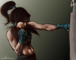 Korra - Boxing by ChristyTortland