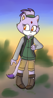 The flame goes for a hike! by Salt-Caverns