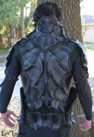 Skyrim Nightingale Armor - Back by Epic-Leather