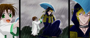 07Ghost: Frau and Teito. umbrella by rinity