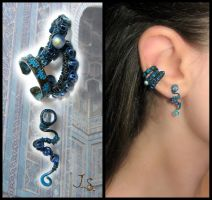 Set of ear cuff-rings Shakhi Zinda by JSjewelry