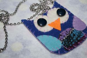 owl felt necklace by mjdaluz