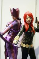 Hawkeye with Black Widow by tarta0823