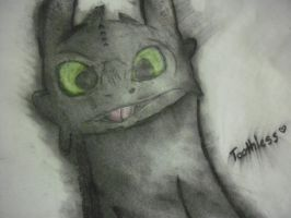 Toothless by Fallenpeach