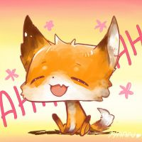 happy lil fox by haanhaan