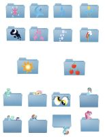 MLP: FiM Mac Folder Icons by Silkyprime