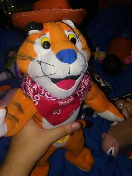 tony the tiger plush cowboy. by wolfpawtrain