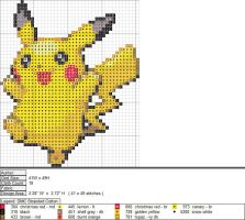 Pikachu XStitch Pattern 1 by aeiouna