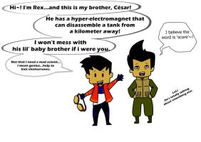 Rex and Cesar Salazar by Rabbit-miza