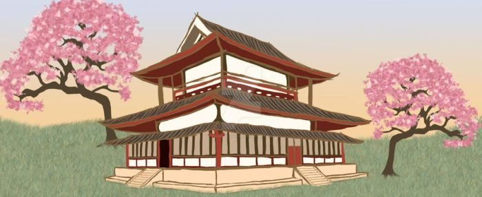 Horyu-ji Temple - Golden Hall by TwinkleCarnage