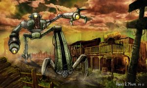 Steampunk WW Apocalypsis Robot by Roberstatic